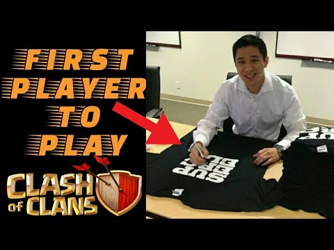 FIRST PLAYER TO PLAY CLASH OF CLANS - JORGE YAO!  CLASH LEGEND OF ALL TIME