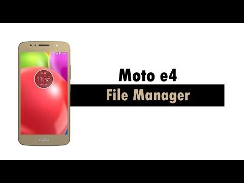Moto e4 - File Manager