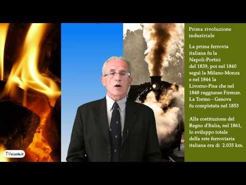 Storia - Prima rivoluzione industriale, il carbone. Breve storia dell'economia. TV scuola
