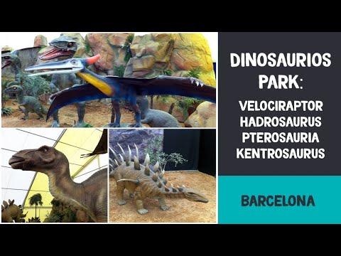 Dinosaurios Park: velociraptor, hadrosaurus, pterosauria y kentrosaurus