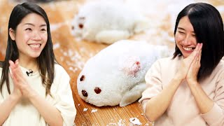 I Try Making Cute Seal Mochi For Rie • Tasty