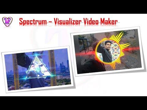 Audio Spectrum Visualizer  Video Maker.🎥