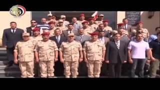 الفريق محمود حجازى يتفقد الاستعداد القتالى بإحدى وحدات القوات الخاصة وعناصر الشرطة العسكرية