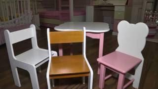 видео детские столики и стульчики