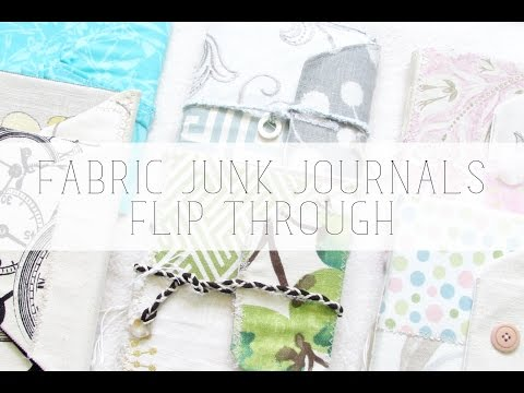 fabric junk journals flip through