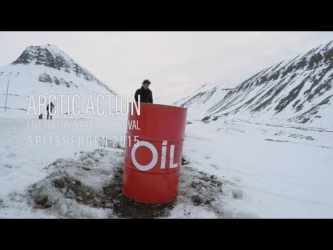 """Red oil drum"" -  Arctic Action Performance Festival 2015"