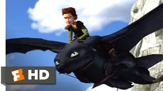 How to Train Your Dragon - Flying Toothless Scene | Fandango Family