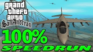 Grand Theft Auto: San Andreas 100% Speedrun - September 2018
