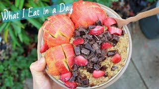 WHAT I EAT IN A DAY | with calories + macros