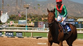 Triple Crown Jockey Rides in Tandem with Horse and Savior!