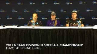 2017 NCAA Division III Softball Championship Game 3 Press Conference - Ill. Wesleyan v. St. Kate