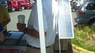 Solar Generator for ice cream cart