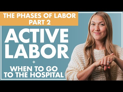 Part 2 ACTIVE LABOR and When to GO to the HOSPITAL | Birth Doula