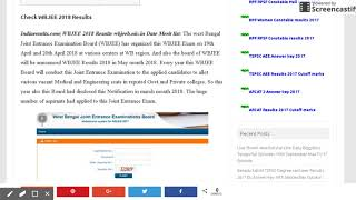WBJEE Results 2018 at www.wbjeeb.nic.in Dates at www.indiaresults.com