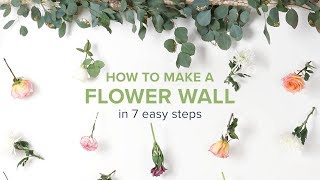 DIY Flower Wall for Any Occasion thumbnail