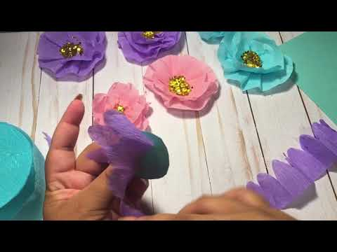 DIY Embellishments | Crepe Paper Flowers