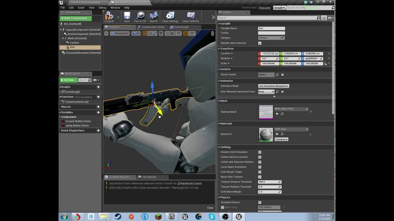 How to make a aaa fps from scratch ue4 ep3 adding a gun youtube malvernweather Choice Image