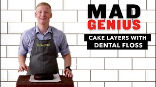 How to Cut Cake Layers with Dental Floss