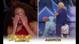 Senior SEXY Couple EROTIC Dance Gets HOT & DIRTY! | America's Got Talent 2018