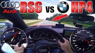 RS6 Performance chasing BMW HP4 Superbike on German Autobahn ✔