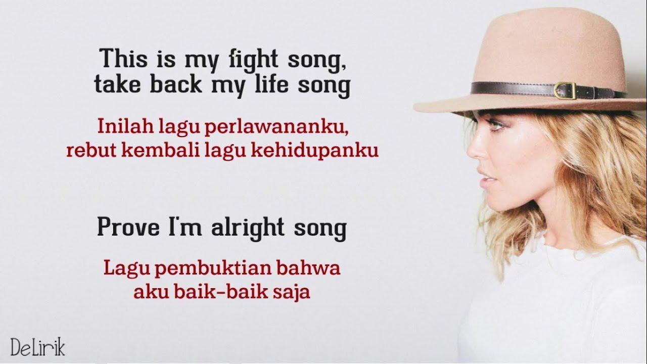 picture regarding Fight Song Lyrics Printable referred to as Beat Track - Rachel Platten (Lirik video clip dan terjemahan)