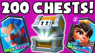 Clash Royale 200 GIANT CHESTS OPENING | BUYING GEMMING LEGENDARY CARDS UNLOCKED