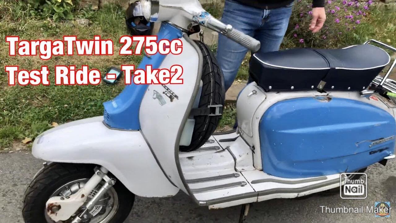 Lambretta TargaTwin Test Ride -Take 2. Better footage from DragonTouch 4K ActionCam