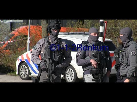 (GRIP3) Veel speciale eenheden met spoed naar en bij aanslag melding in Utrecht