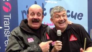 Snooker Loopy at Manchester Picadilly with John Parrott and Willie Thorne