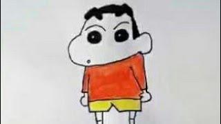 How to draw shin shan cartoon