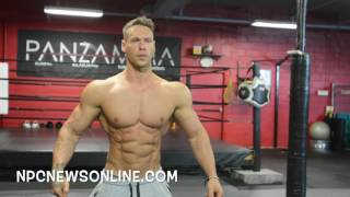 IFBB Men\'s Physique Pro Anton Antipov  Practicing Posing At The East Coast Mecca