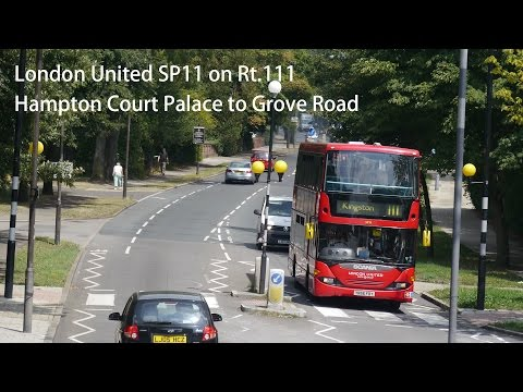 London United SP11 Scania Omnicity @ 111 Hampton Lodge to Grove Road