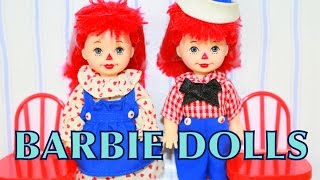 BARBIE Collector Kelly & Tommy Raggedy Ann & Andy Frozen Toby Doll AllToyCollector