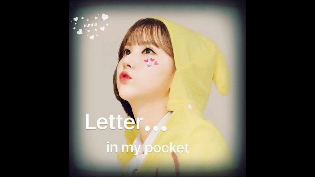 Gfriend pika friend letter in my pocket full youtube for Puff and pass cover letter