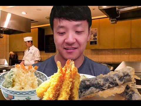 12 Course TEMPURA Dinner in Tokyo Japan!