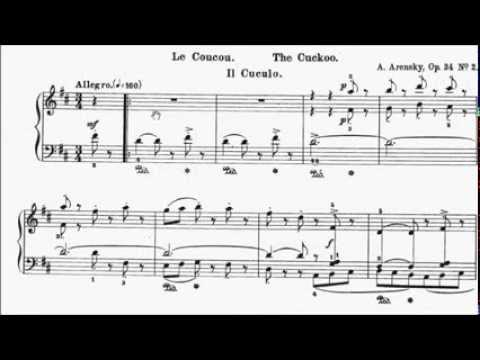 AMEB Piano Series 17 Grade 7 List C No.1 C1 Arensky Le Coucou The Cockoo Op.34 No.2 Sheet Music
