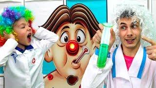 Какую ИГРУ ПРИДУМАЛ Хелпик? Кто лучший доктор ПАПА или РОМА Челлендж от канала Рома и Хелпик