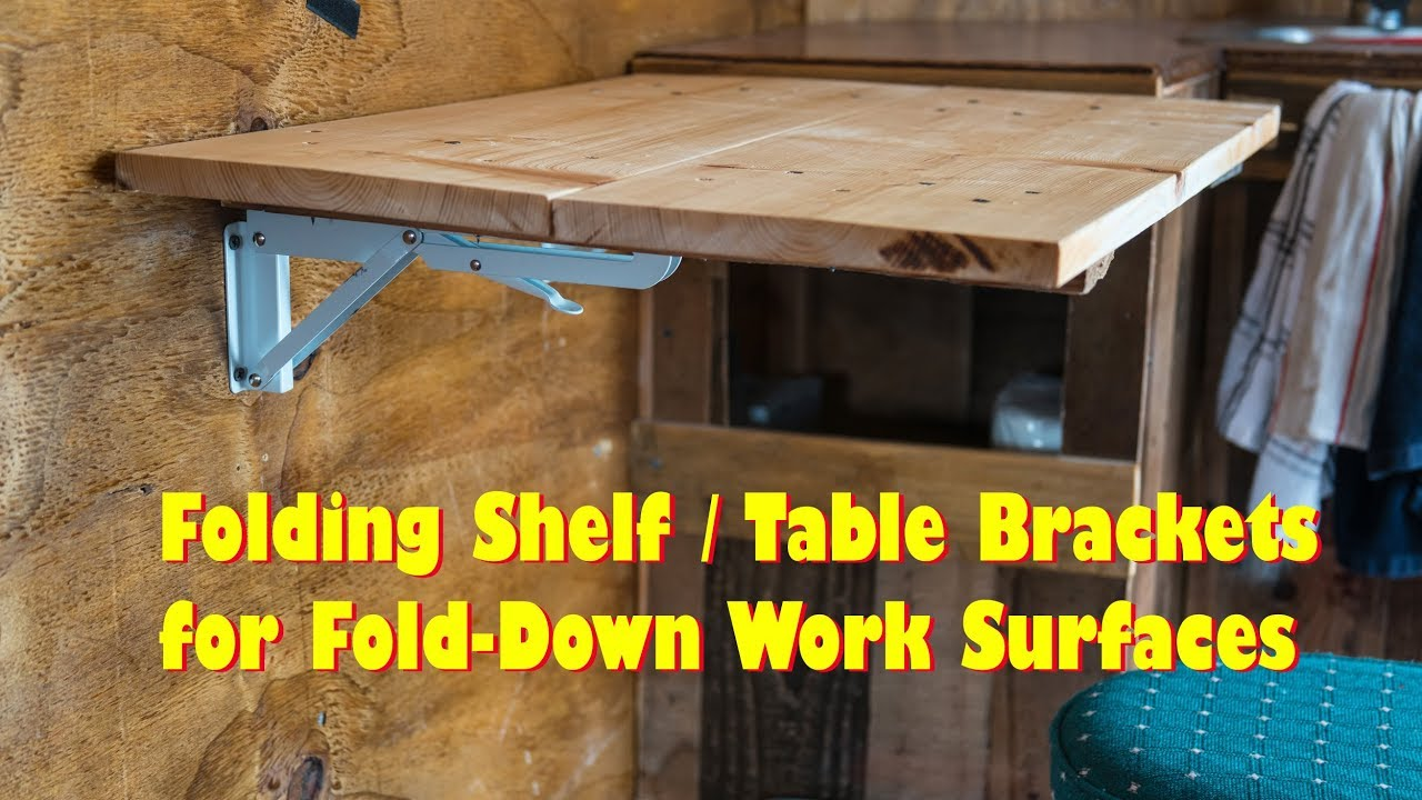 Folding Table Brackets Flip Up Wall Mount Easy Diy Love These