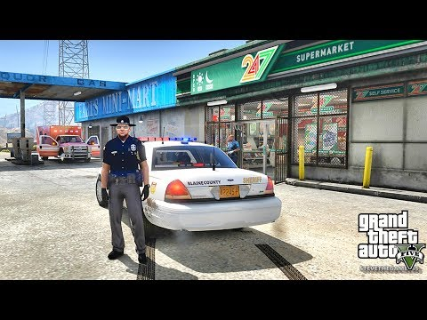 GTA 5 MODS LSPDFR 830 - MEAN SHERIFF PATROL!!! (GTA 5 REAL LIFE PC MOD)