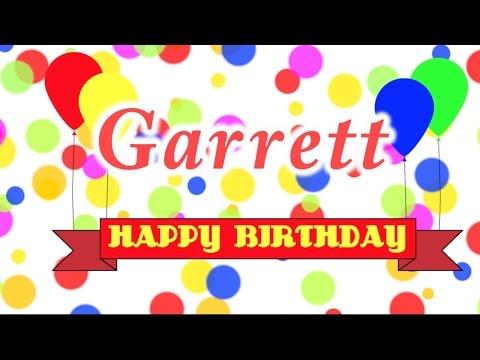 Happy Birthday Garrett Song