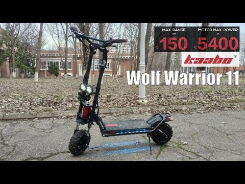 Kaabo Wolf Warrior 11 - Insane 5400W Dual Motor SUV EScooter