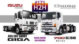 H2H 171 Isuzu GIGA vs Hino 700 6x4 version