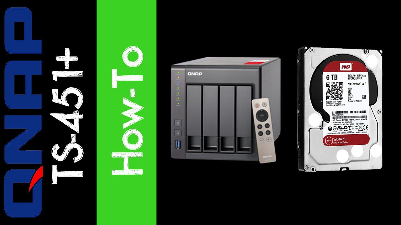 QNAP TS-451+ 4-Bay NAS - Hard Drive Install