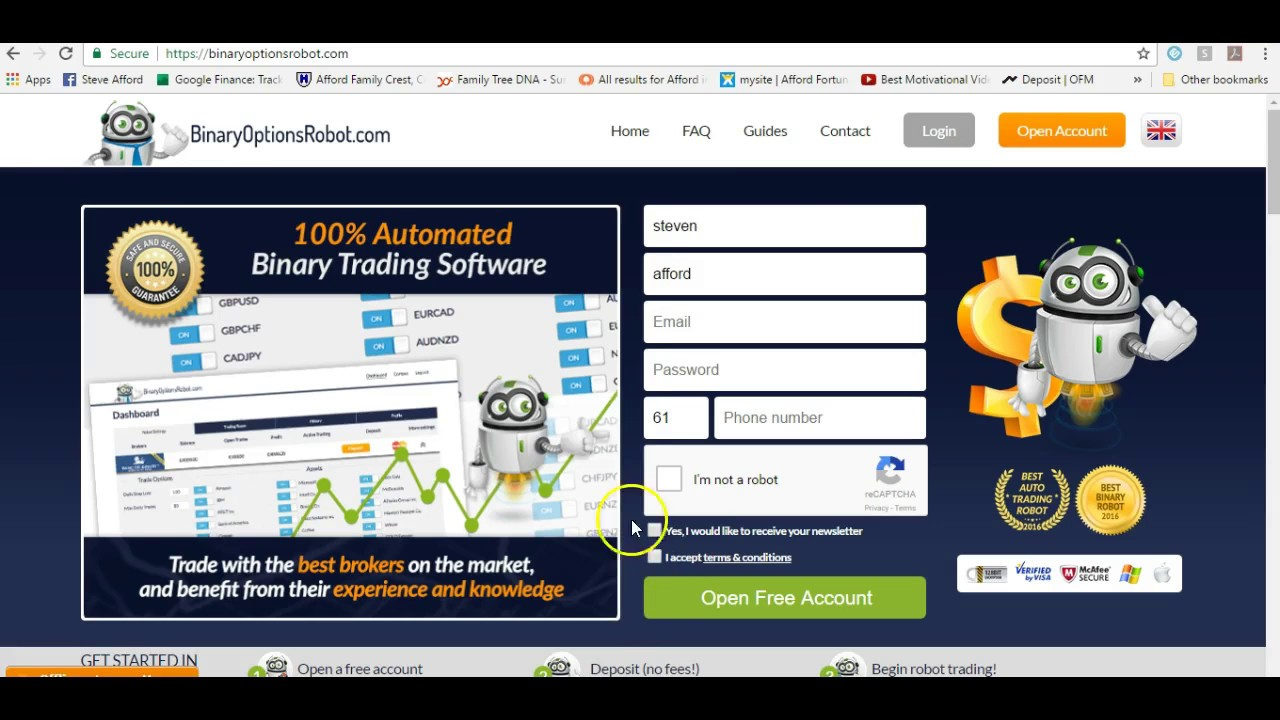 Binary option chart software