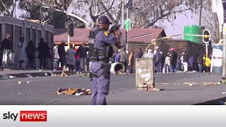 Riots in South Africa over jailing of ex-president Jacob Zuma