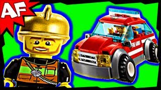 lego city fire chief car 60001 stop motion build review