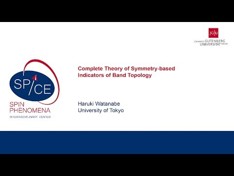 Talks - Spin Dynamics in the Dirac Systems - Haruki Watanabe, University of Tokyo