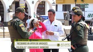 """""""Recibimos un apoyo de unidades policiales"""" Comandante Rionegro"""