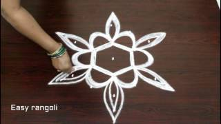 muggulu designs with 5 to 3 interlaced dots - easy rangoli art designs with dots - kolam designs