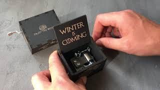 Музыкальная шкатулка Game of Thrones (Игры Престолов) от EnjoyTheWood Winter is coming